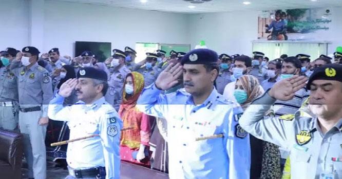 اسلام آباد ٹریفک پولیس میں ترقی پانے والے 17افسران کے اعزاز میں تقریب کا انعقاد