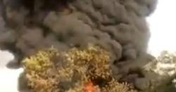 آئل ٹینکرز آپس میں ٹکراگئے ،آگ بھڑک اٹھی،بڑے حادثےکاخدشہ