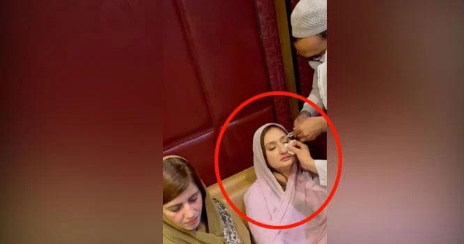 قومی اسمبلی میں ہنگامہ آرائی، ملیکہ بخاری چہرے پر کتاب لگنے سے زخمی