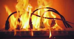 قصور : نجی بینک میں شارٹ سرکٹ سے آگ لگنے قیمتی سامان جل کر راکھ