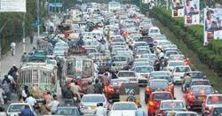 مظفر آباد کی سڑکوں پر ٹریفک جام ، عوام کو مشکلات کا سامنا