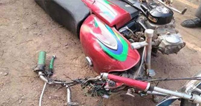 گاڑی اور موٹر سائیکل میں تصادم ، ایک شخص جاں بحق