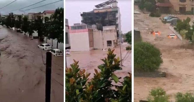 اسلام آباد : شدید بارشوںکے باعث ای الیون میں سیلابی صورتحال، ایمرجنسی ریلیف کیمپ قائم