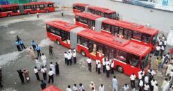لاہور،مطالبات نہ ماننے پر میٹرو بس ڈرائیورز سراپا احتجاج